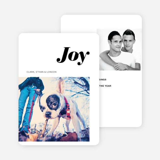 Joy Holiday Cards - Black