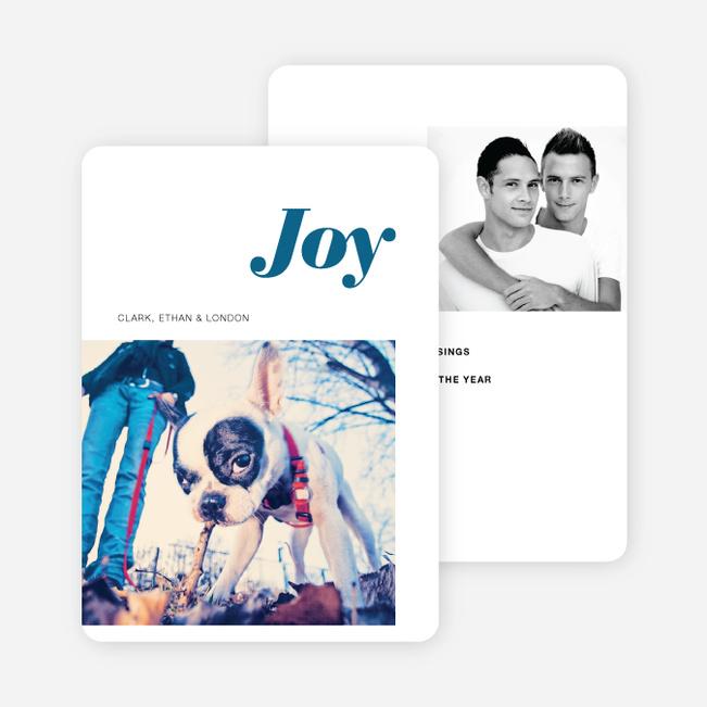 Joy Holiday Cards - Blue