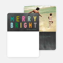 Merry Bright Holiday Photo Cards - Multi