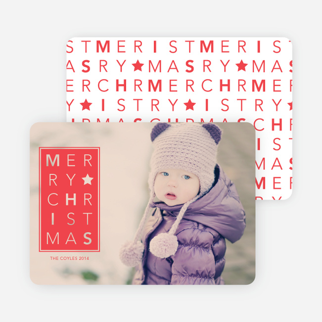 Merry Christmas Letters - Red