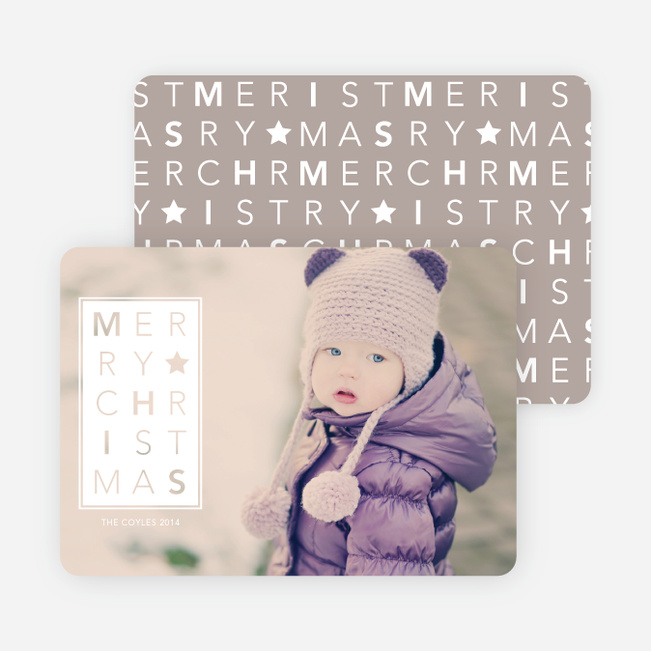 Merry Christmas Letters - White