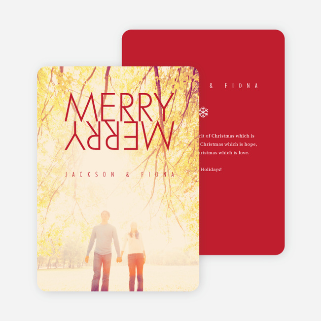 Merry Merry Holiday Cards - Red