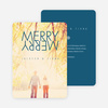 Merry Merry Holiday Cards - Blue