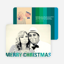 Modern Christmas Cards: Stripes - Green