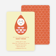 Modern Pea in the Pod Baby Shower Invitations - Orange