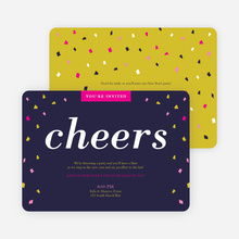 New Year's Confetti Party Invitations - Pink