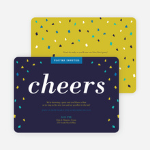 New Year's Confetti Party Invitations - Blue