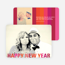 New Year's Stripes Photo Cards - Red