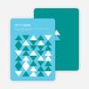 Non-Photo Holiday Cards: Modern Snow - Blue