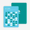 Non-Photo Holiday Cards: Modern Snow - Blue