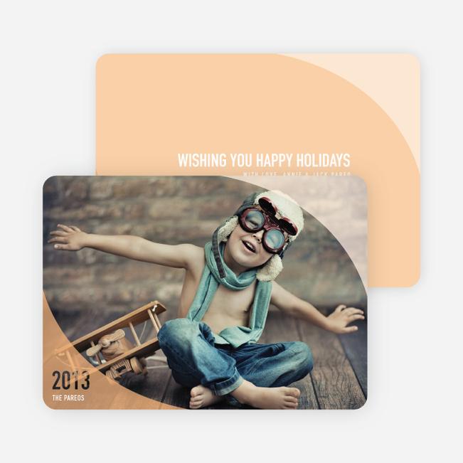 Ocean Waves Holiday Cards - Orange