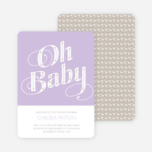 Oh Baby Shower Invitations - Purple