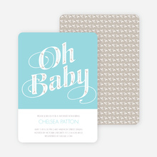 Oh Baby Shower Invitations - Blue