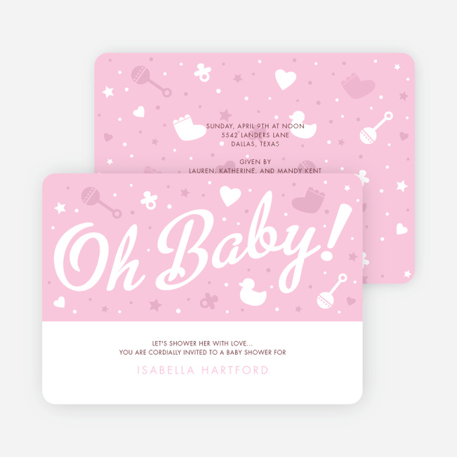 Oh Baby Shower Things - Pink