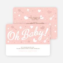 Oh Baby Shower Things - Orange