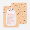 Peppermint Milkshake Recipe Holiday Cards - Orange