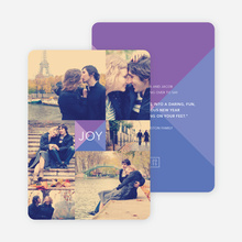 Shapes of Joy Modern Holiday Cards - Purple
