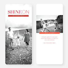 Shine On Holiday Cards - Red