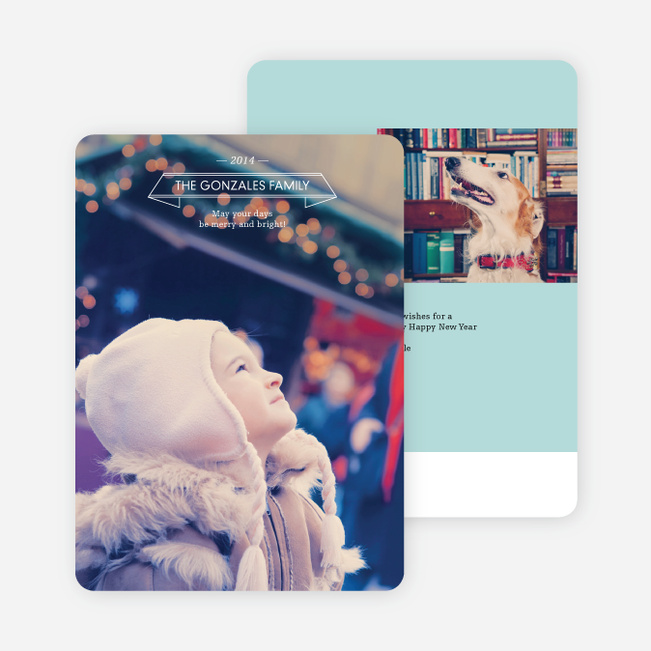 Simple Holiday Cards - Blue