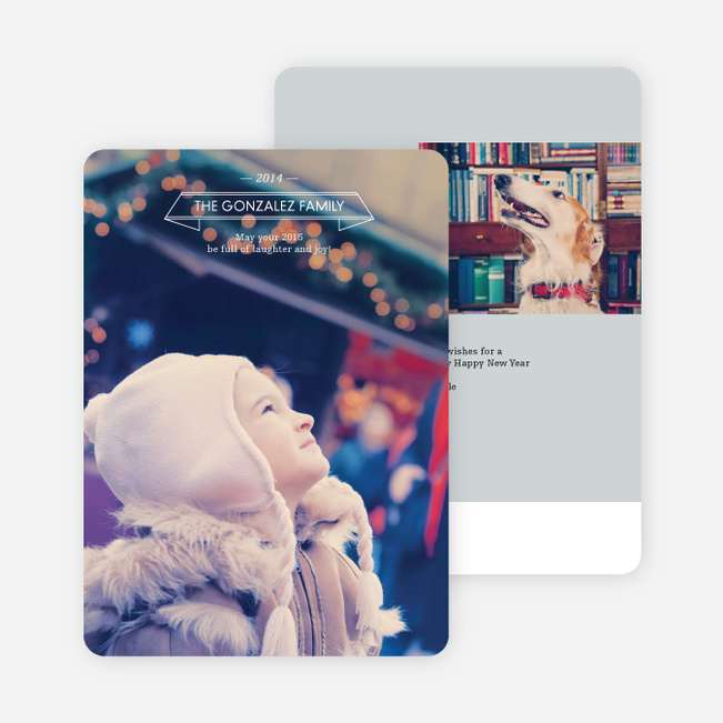 Simple New Year's Cards - Gray