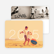 Simply Photo New Year's Card - White