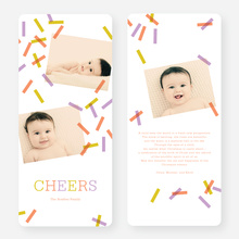 Sprinkles, Confetti Holiday Cards - Orange