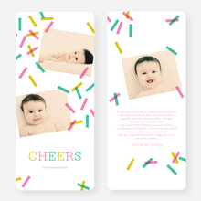 Sprinkles, Confetti Holiday Cards - Pink
