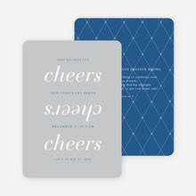 Three Cheers for the New Year Party Invitations - Blue