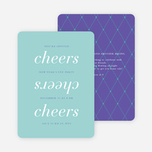 Three Cheers for the New Year Party Invitations - Purple