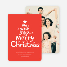 We Wish You a Merry Christmas Card - Red