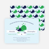 Whale of a Time Shower Invitations - Blue