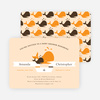 Whale of a Time Shower Invitations - Orange