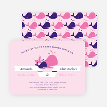 Whale of a Time Shower Invitations - Pink