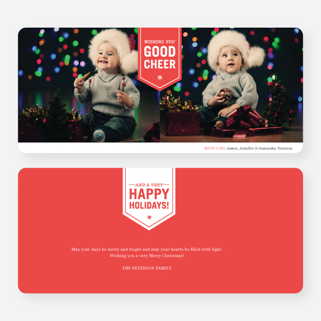 Wishing You Good Cheer Holiday Cards - Red