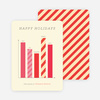 Bar Graph Corporate Holiday Cards - Red