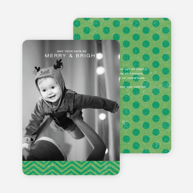 Charming Holiday Cards - Green