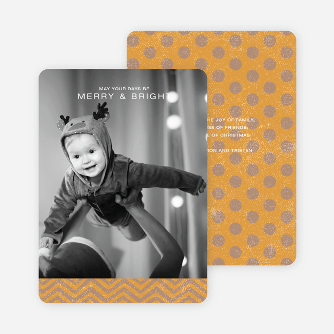 Charming Holiday Cards - Orange