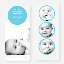 Circle Themed Birth Announcements - Blue