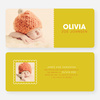 Color Block Baby Announcements - Yellow