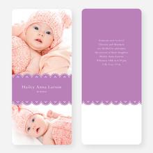 Elegant Birth Announcements - Purple