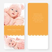 Elegant Birth Announcements - Orange