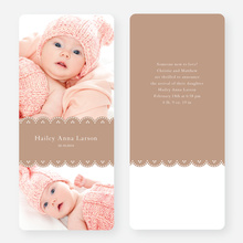 Elegant Birth Announcements - Brown