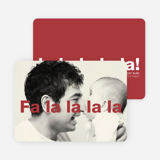Fa-la-la-la-la: Deck the Halls or Diction Holiday Photo Cards - Red