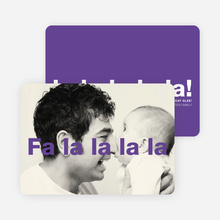 Fa-la-la-la-la: Deck the Halls or Diction Holiday Photo Cards - Purple