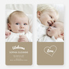 Heartstrings Birth Announcements - Beige