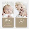 Heartstrings Birth Announcements - Beige