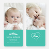 Heartstrings Birth Announcements - Green