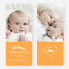 Heartstrings Birth Announcements - Orange