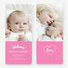Heartstrings Birth Announcements - Pink