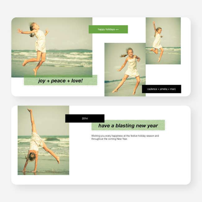 Holiday Tags Photo Cards - Green